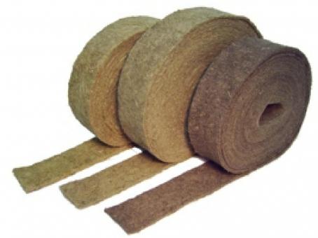 Hanf Dämm Streifen, HDS5; 5 mm ; Trittschallentkopplung, 100mm breit, 25 lfm