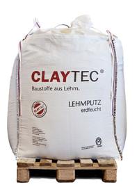 CLAYTEC Lehmunterputz erdfeucht, Big Bag, 600 l Putzmörtel, RW 40 m² bei D=15 mm