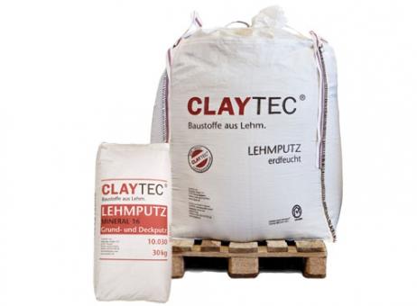 CLAYTEC Lehmputz Mineral 16, Sackware, 30 kg